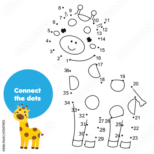 Connect The Dots Children Educational Drawing Game Dot To Dot By