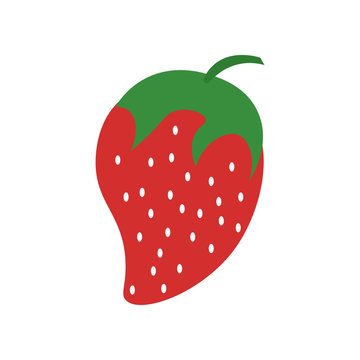 Strawberry icon vector sign and symbol isolated on white background, Strawberry logo concept