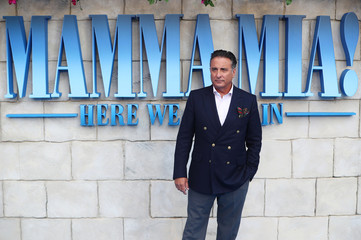 Andy Garcia attends the world premiere of Mamma Mia! Here We Go Again at the Apollo in Hammersmith, London