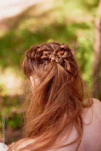 Wedding Hairstyles For Thick Red Hair Hair Close Stock Photo And