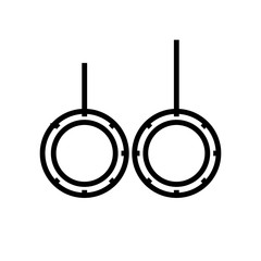 Rings icon vector sign and symbol isolated on white background, Rings logo concept
