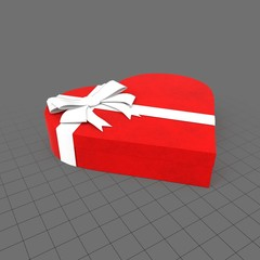 Closed heart gift box