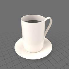Tall coffee mug