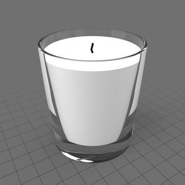 Candle in glass holder