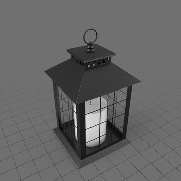 Traditional lantern with candle