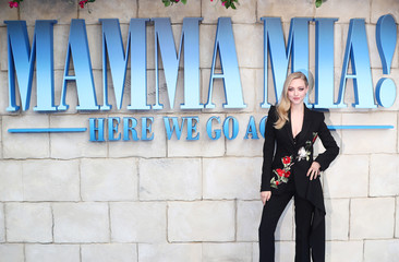 Amanda Seyfried attends the world premiere of Mamma Mia! Here We Go Again at the Apollo in Hammersmith, London
