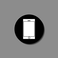Black smartphone with blank touch screen isolated on white Illustration vector.