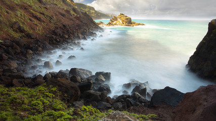 Atlantic shore, Island of La Palma, Canary Islands, Spain