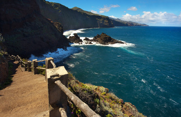 On the way to the Atlantic shore, Island of La Palma, Canary Islands, Spain