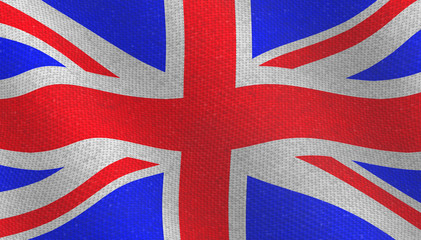 Illustraion of a flying British Flag
