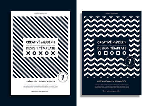 Flyer Layout with Black and White Patterns