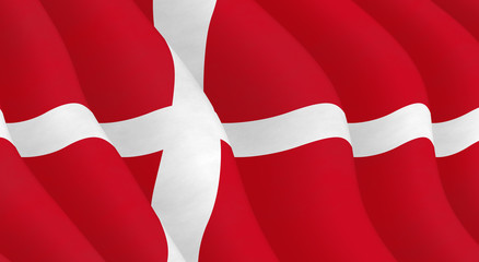 Illustraion of Danish Flag