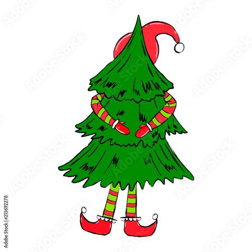Christmas Elves Clipart Free.Xmas Seasonal Collection Christmas Elf Clipart Isolated