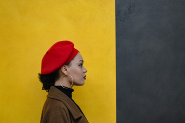 girl in red beret