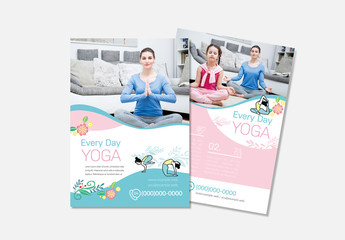 Yoga Flyer Layout with Photo Header Element