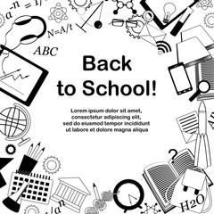 Back to school doodle frame