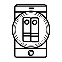 e-reader icon vector