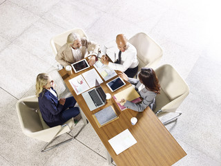 multinational and multiethnic corporate business people meeting in office
