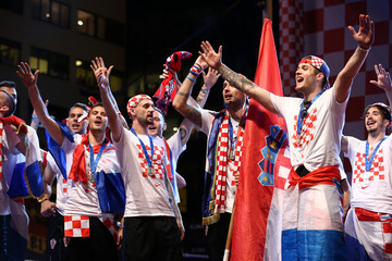 World Cup - The Croatia team return from the World Cup in Russia
