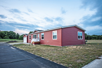 New Red Manufactured Home