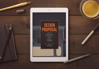Dark Blue and Orange Proposal Layout