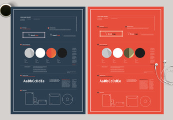 Blue and Red Infographic Poster Layout