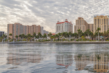 Waterfront reflections of West Palm Beach.