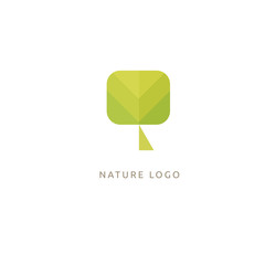 Abstract tree logo icon vector design. Landscape design, garden, Plant, nature and ecology vector logo