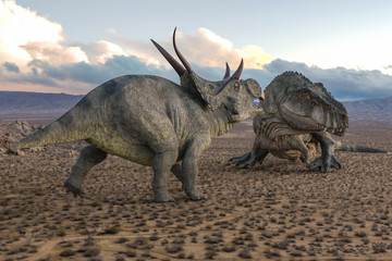 t-rex vs diabloceratops