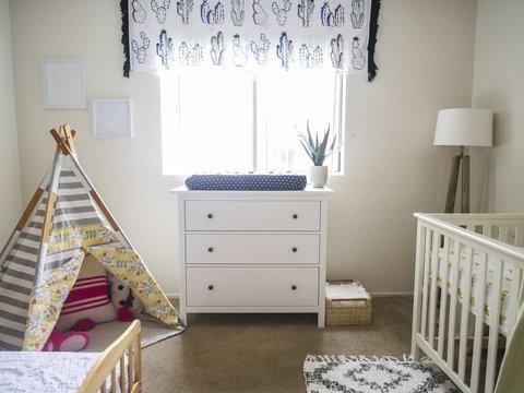 Interior of nursery at home