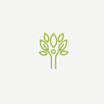 Abstract nature logo icon vector design. healthy food, ecology, spa, business, diet vector logo