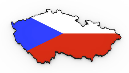 Czech republic high detailed 3D map