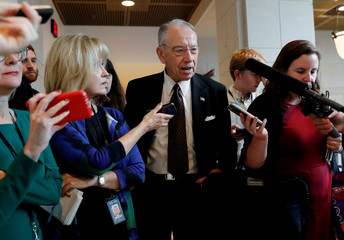 U.S. Senator Chuck Grassley (R-IA) speaks with news media at the U.S. Capitol building in Washington, U.S.