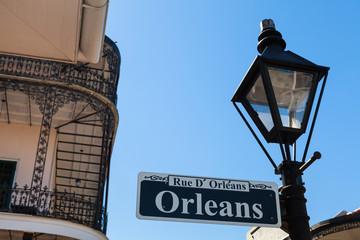 Orleans street sign Fotomurales