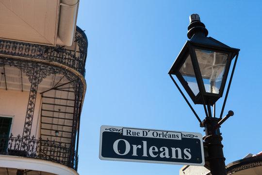 Orleans street sign