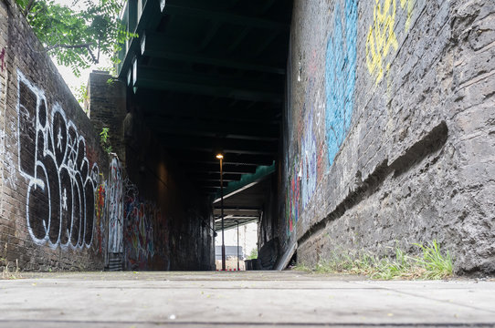 Scary Derelict Alley in London Backstreet