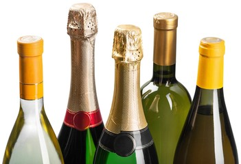 Champagne and Wine Bottles