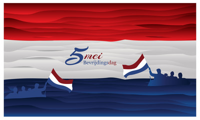 Vector illustration abstract background Netherlands national holiday of may 5. Bevrijdingsdag. designs for posters, backgrounds, cards, banners, stickers, etc Fototapete