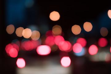 Abstrac bokeh light  on night