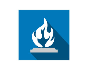 flame flare bonfire heat image vector icon logo symbol