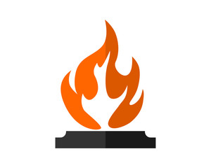bonfire flame flare bonfire heat image vector icon logo symbol