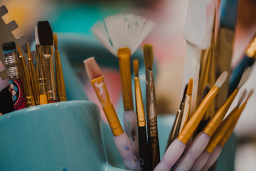 Paintbrush and art tools