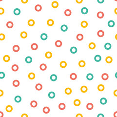 ice cream donuts seamless pattern background
