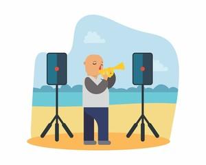 trumpet jazz music musician musical artist concert performance cartoon character