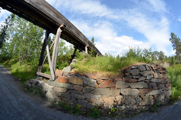 Abandoned water supply system for mines. Near Kongsberg,Norway