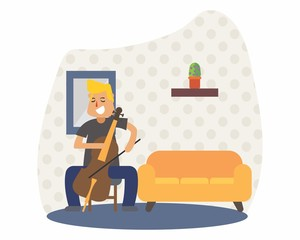 cellist cello music musician musical artist concert performance cartoon character