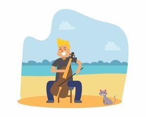 cellist cello music musician musical artist concert performance cartoon character