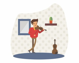 violinist music musician musical artist concert performance cartoon character