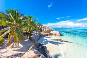 site emblématique d'anse Source d'Argent, la Digue, les Seychelles