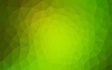 Light Green, Yellow vector abstract polygonal background.